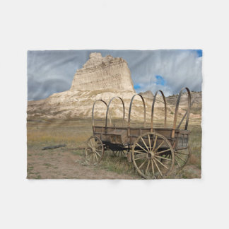 Scott's Bluff in present day Nebraska Fleece Blanket