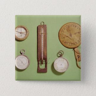 Scott's compass, thermometer, sundial, 15 cm square badge