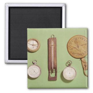 Scott's compass, thermometer, sundial, magnet