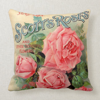 Scotts Roses Advertisement Throw Cushions