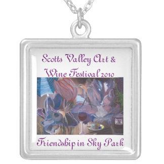 Scotts Valley CA Art & Wine Festival 2010 Square Pendant Necklace