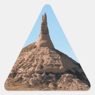 Scottsbluff Nebraska Chimney Rock Spire Triangle Sticker