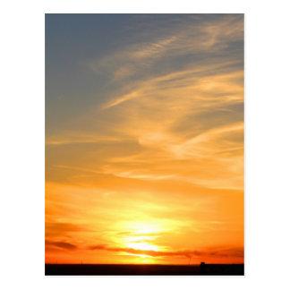Scottsbluff Nebraska Farming Harvest Fall Sunset Postcard