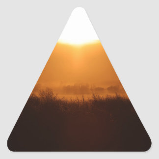 Scottsbluff Nebraska Farming Harvest Fall Sunset Triangle Sticker