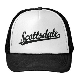 Scottsdale script logo in black hat