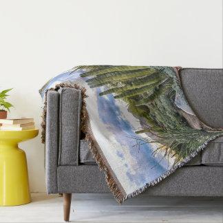 Scottsdale Succulent Sunset Throw Blanket