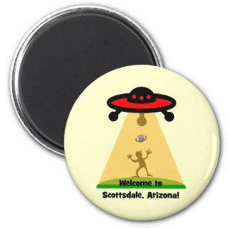 Scottsdale UFOs 6 Cm Round Magnet