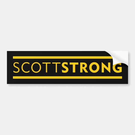 SCOTTSTRONG BUMPERSTICKER BUMPER STICKER