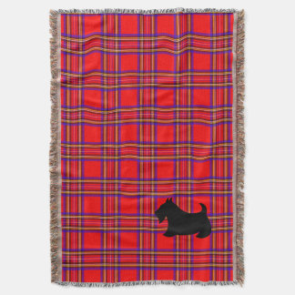 Scotty Dog Plaid Scottish Terrier Blanket Gift