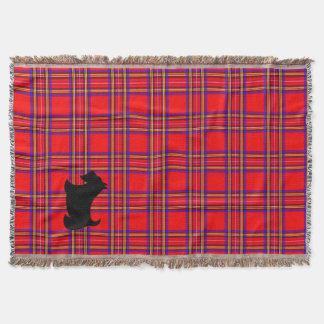 Scotty Dog Plaid Scottish Terrier Blanket Gift