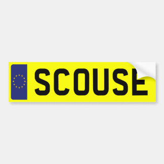 SCOUSE Number Plate Bumper Sticker