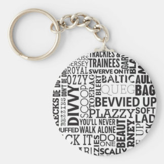 Scouse Words & Phrases Basic Round Button Key Ring