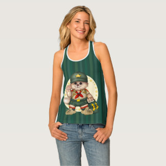 SCOUT CAT All-Over Print Racerback Tank Top 2