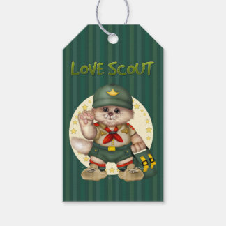 SCOUT CAT CARTOON Gift Tag