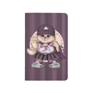 SCOUT CAT GIRL CARTOON Pocket Journal Grid
