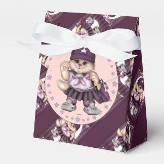 SCOUT CAT GIRL CARTOON Tent & Ribbon Favor Box