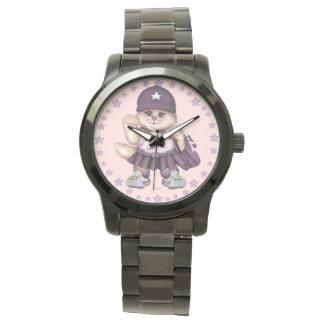 SCOUT CAT GIRL Oversized Black Bracelet Wrist Watch