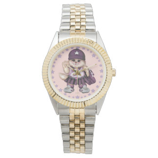 SCOUT CAT GIRL Two-Tone Bracelet Watch