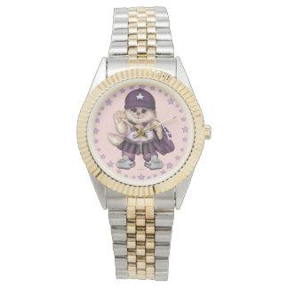 SCOUT CAT GIRL Two-Tone Bracelet Wristwatch