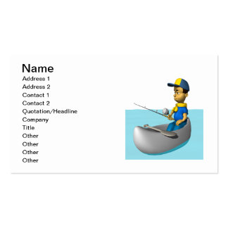 Scout Fishing 2 Pack Of Standard Business Cards