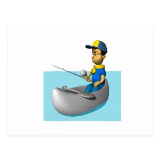 Scout Fishing 2 Postcard