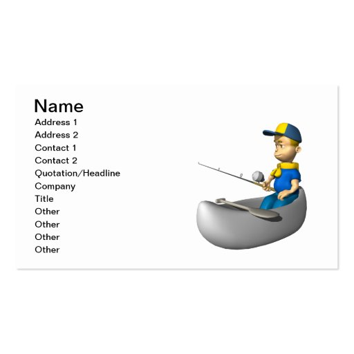 Scout Fishing Business Card Template