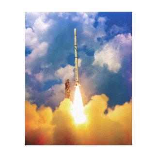 Scout Rocket Launch Gallery Wrap Canvas