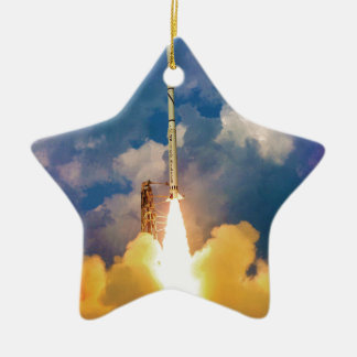 Scout Rocket Launch Ceramic Star Decoration