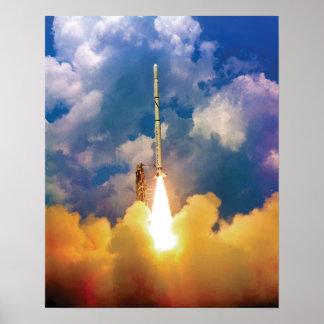 Scout Rocket Launch Poster