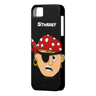Scowling Boy Cute Pirate Personalised iphone 5 Case For The iPhone 5