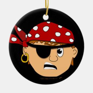 Scowling Boy Cute Pirate Stuff Customizable Christmas Ornament