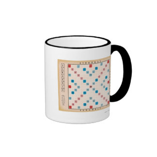 Scrabble Vintage Gamboard Coffee Mugs