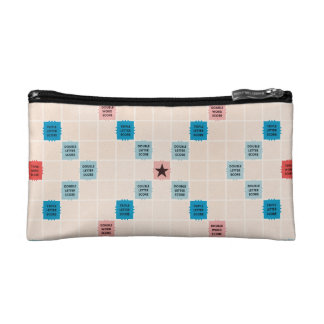 Scrabble Vintage Gameboard Cosmetic Bags