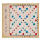 Scrabble Vintage Gameboard Poster
