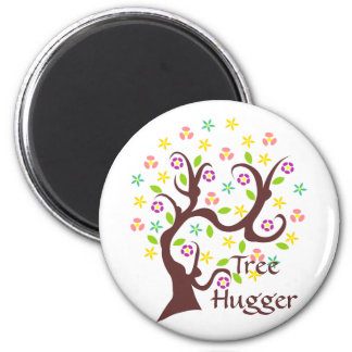 Scraggly Abstract Tree 6 Cm Round Magnet