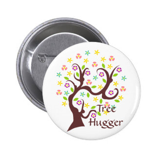Scraggly Abstract Tree 6 Cm Round Badge