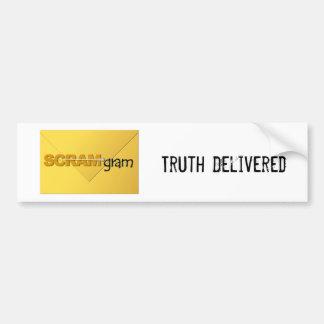SCRAM*gram Bumper Sticker Logo w/Text