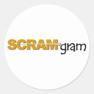 SCRAM*gram Sticker Large