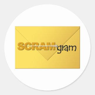 SCRAM*gram Sticker Large Logo