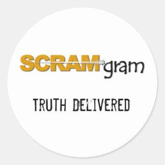 SCRAM*gram Sticker Large w/Text