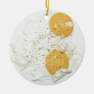 scrambled egg round ceramic decoration