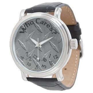scrambled numbers on diamond plating wristwatch