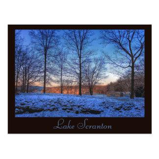 Scranton PA Lake Scranton Post Card Winter Light