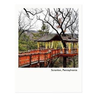 Scranton PA Postcard-Nay Aug Park Tree House Postcard
