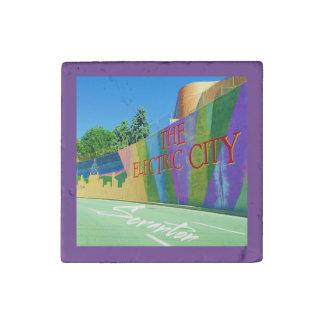 Scranton, The Electric City Mural-Stone magnet Stone Magnet