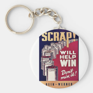 Scrap! Basic Round Button Key Ring
