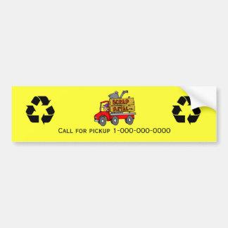 Scrap Metal Bumper Sticker