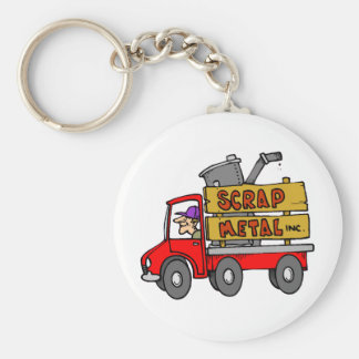 Scrap Metal Collector Basic Round Button Key Ring