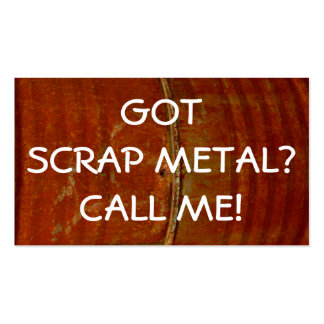 Scrap Metal Collector Business Card