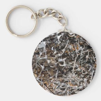 scrap metal key ring